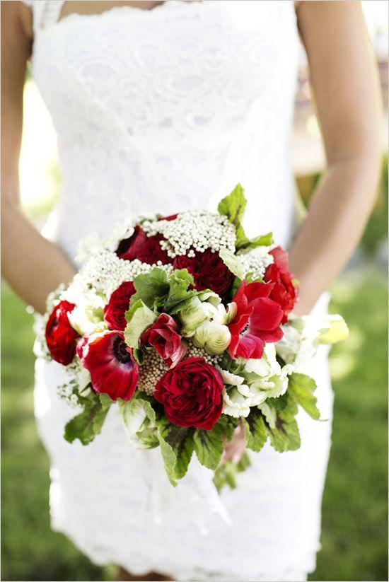 Americana Backyard Wedding Ideas Red Wedding White Wedding
