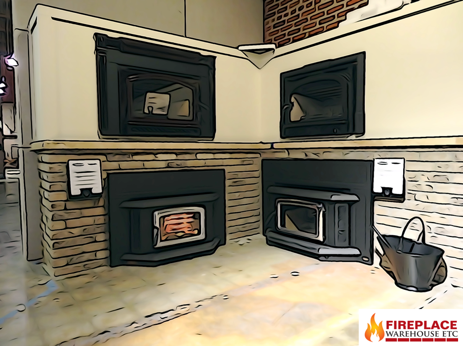 Wood Inserts Area Now Has A 2nd Level With Images Fireplace