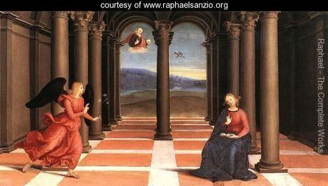 The Annunciation (Oddi altar, predella) - Raphael - www.raphaelsanzio.org