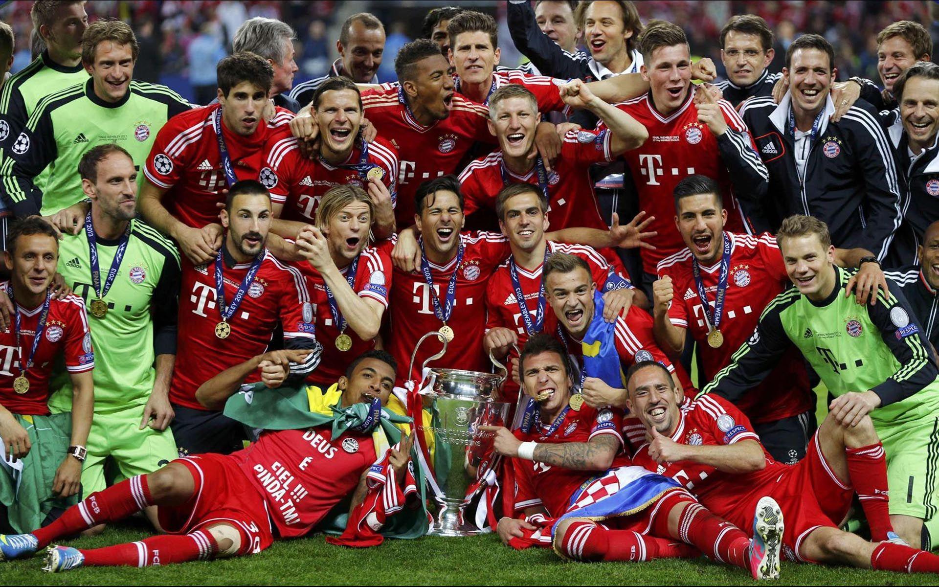 Bayern Munchen Football Club Wallpaper: Bayern-Munich-Champions-League-Winners-2013-HD-Wallpaper