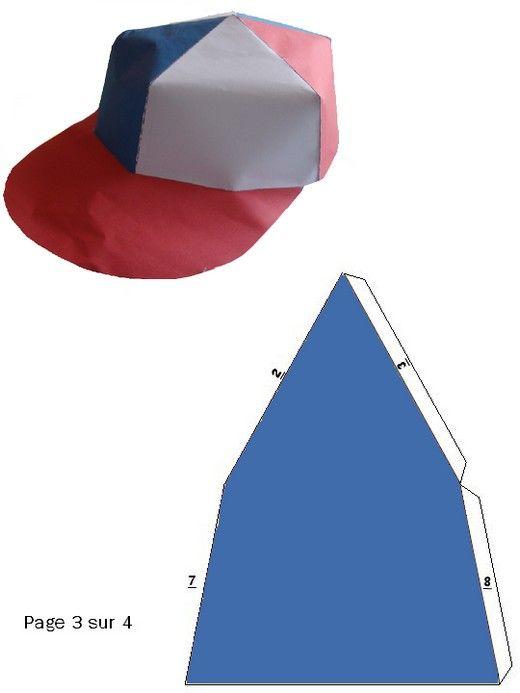 prix le plus bas double coupon original Modèle de casquette en papier pour faire la casquette de ...