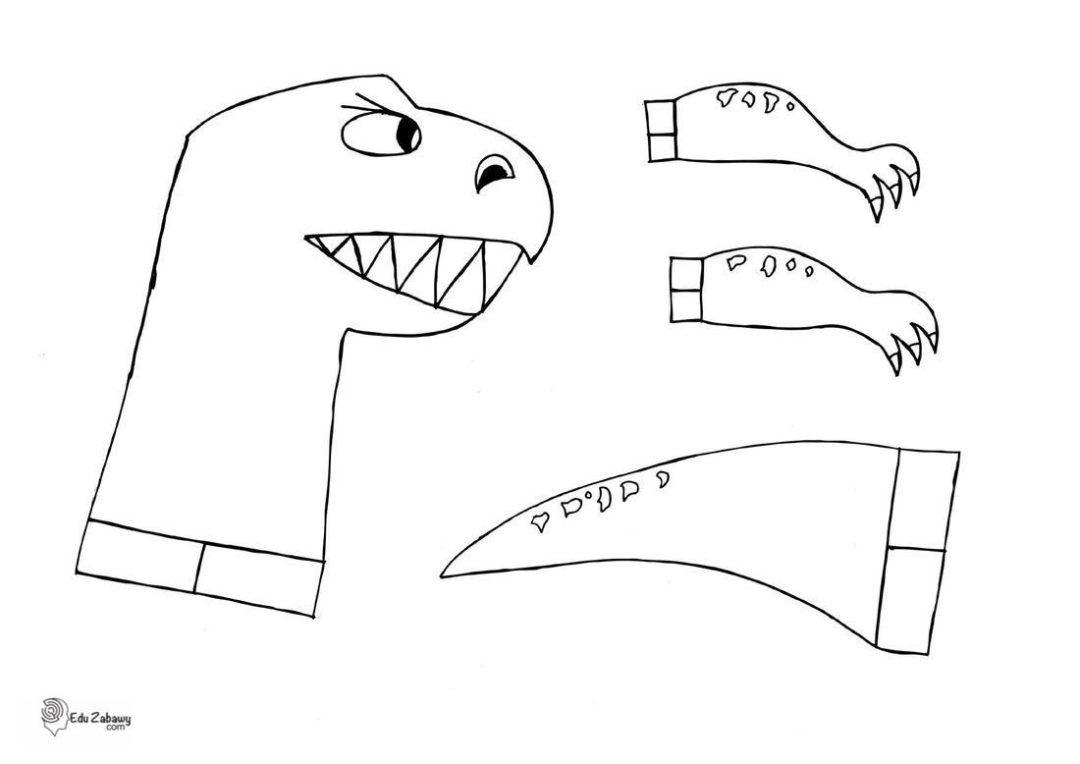 Kreatywne Prace Dla Dzieci Dinozaury Z Balonow Scenariusz Szablon In 2020 Dinos Fictional Characters Character
