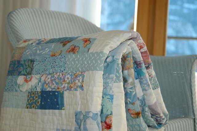 blue scrap quilt
