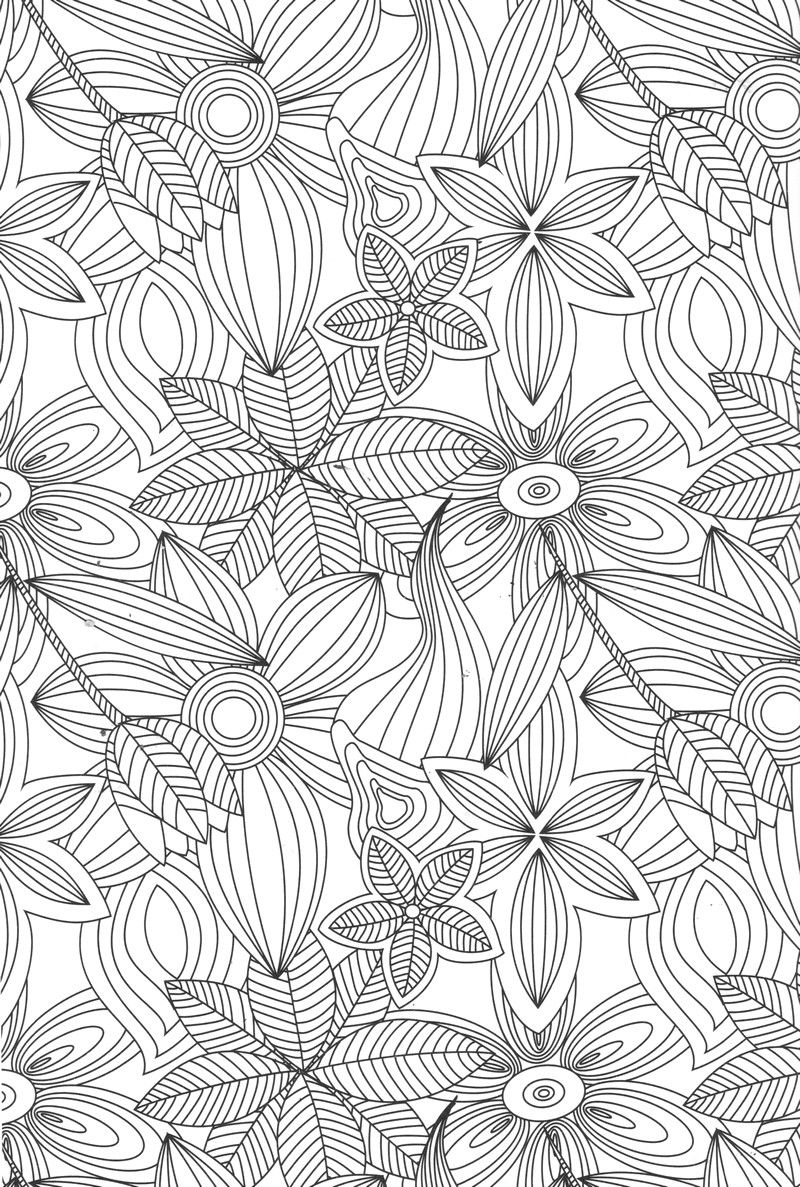 Anti stress coloring therapy - Flower Abstract Doodle Zentangle Coloring Pages Colouring Adult Detailed Advanced Printable Kleuren Voor Volwassenen Coloriage Pour Anti Stress