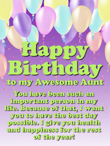 You Are An Important Person Happy Birthday Card For Aunt Birthday Greeting Cards By Davia Birthday Wishes For Aunt Birthday Card For Aunt Happy Birthday To Aunt