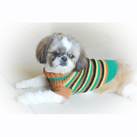 Dog Clothes Boy, Casual Crochet Dog Sweater, Dachshund Clothes, Shih ...