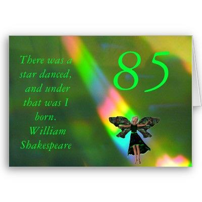 85th Birthday Greeting Cards