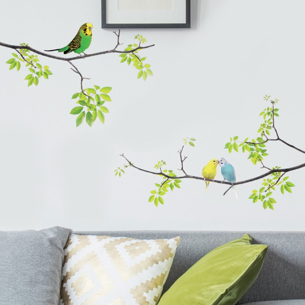 1pc Wall Decals Birds On Tree Peel And Stick Fresh Removable Wall