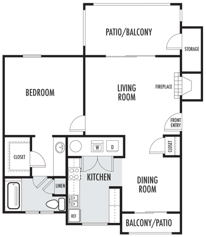 The Aspen Floor Plan 3 Apartments For Rent Rental Apartments Floor Plans