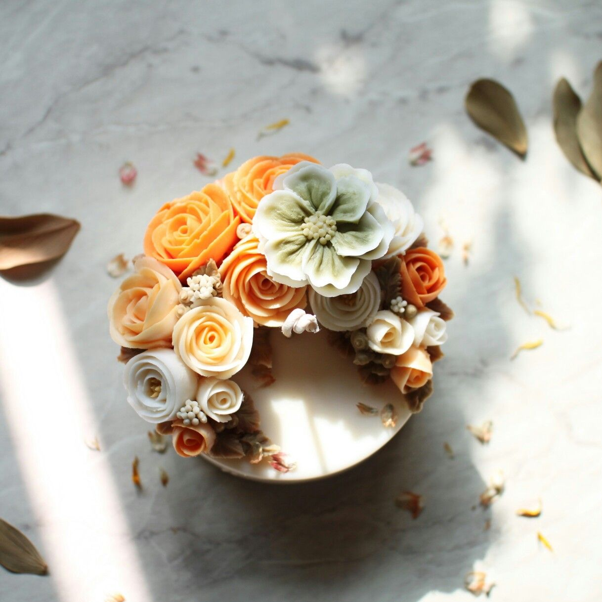 Korea Soy Wax Flower Candles Soy Wax Candles Diy Wax Candles