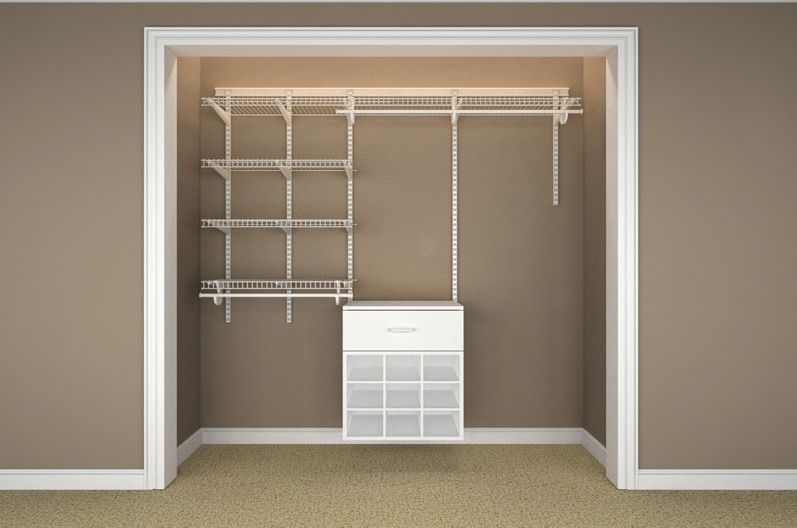 Elegant Empty Closet Rods And Racks.