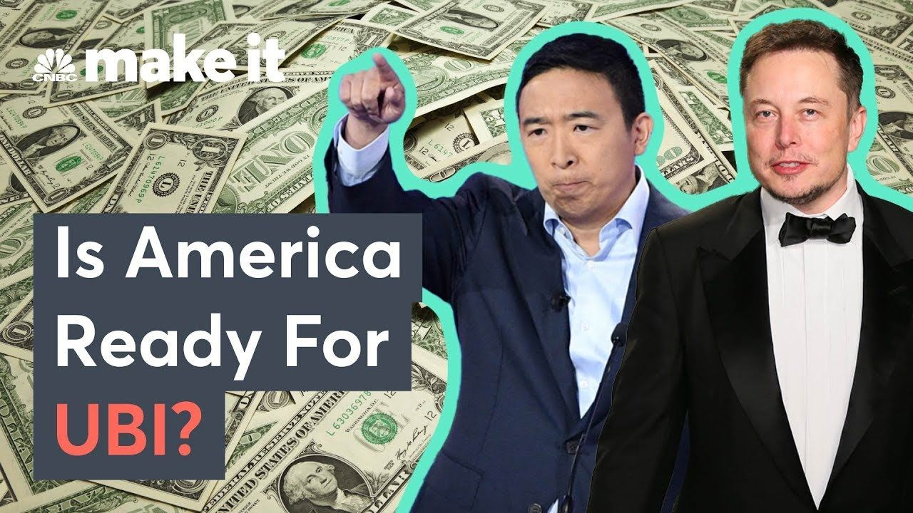 Elon Musk And Andrew Yang Support Ubi Is America Ready With Images Elon Democratic Presidential Candidates America
