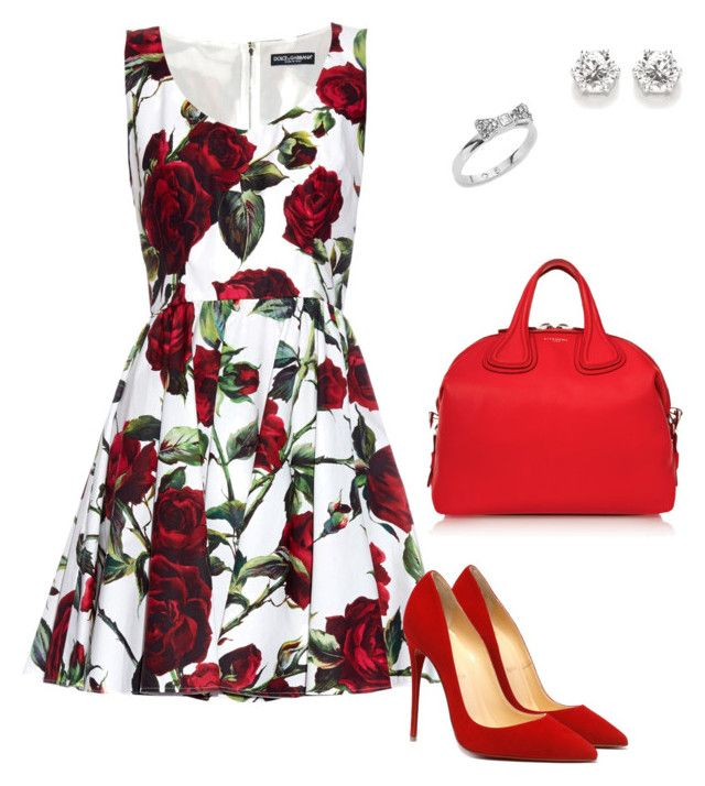 """""""Louboutin"""" by tina-pieterse on Polyvore featuring Kate Spade, Dolce&Gabbana and Givenchy"""