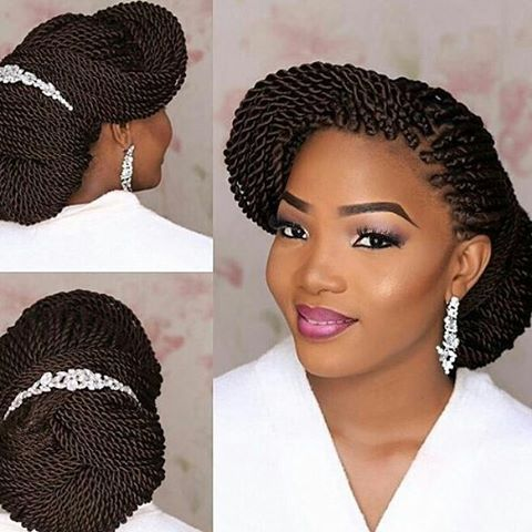 This Hair Is Beautiful Everytinnatural Twisting Extensions Bridal Bridalhai Natural Hair Wedding African Braids Hairstyles Braided Hairstyles For Wedding