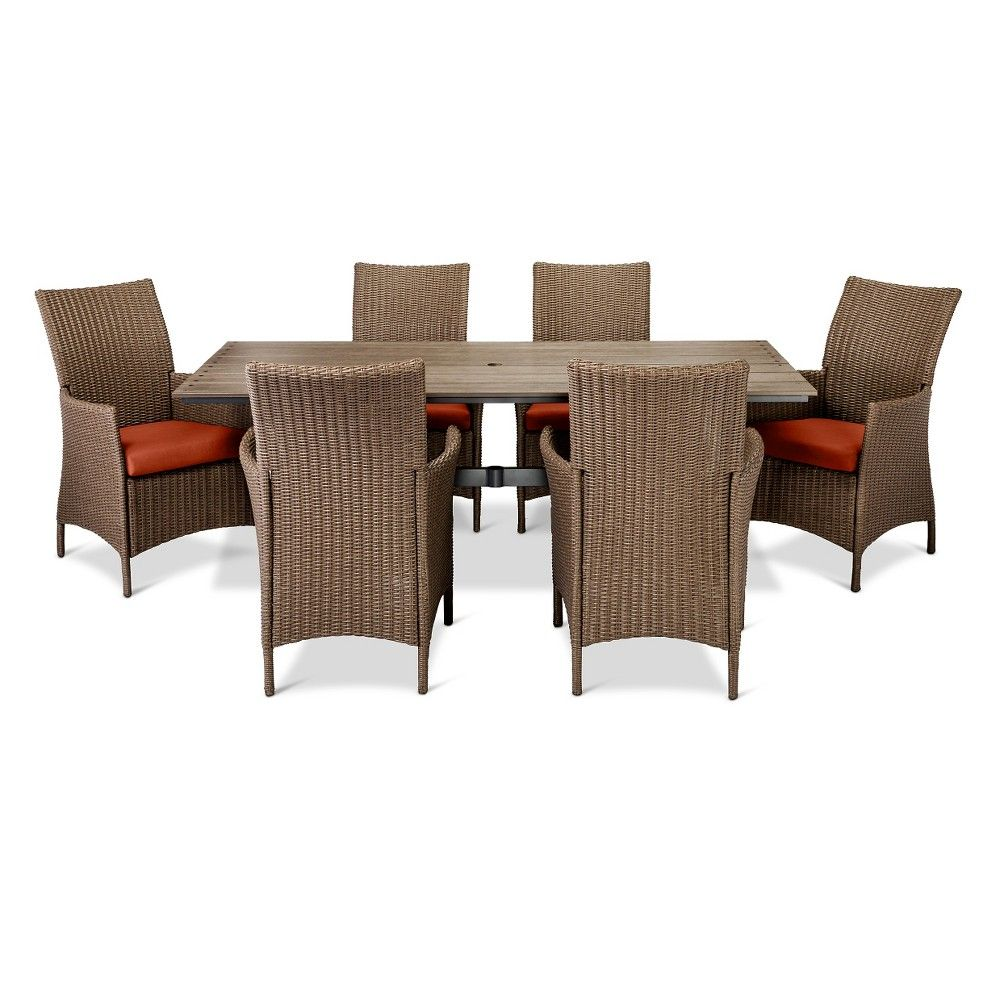 Heatherstonepc dining set tan threshold dining sets and products