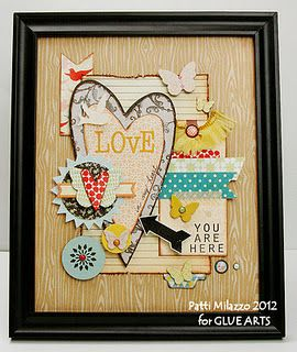 Awesome framed heart collage by @Patti Milazzo