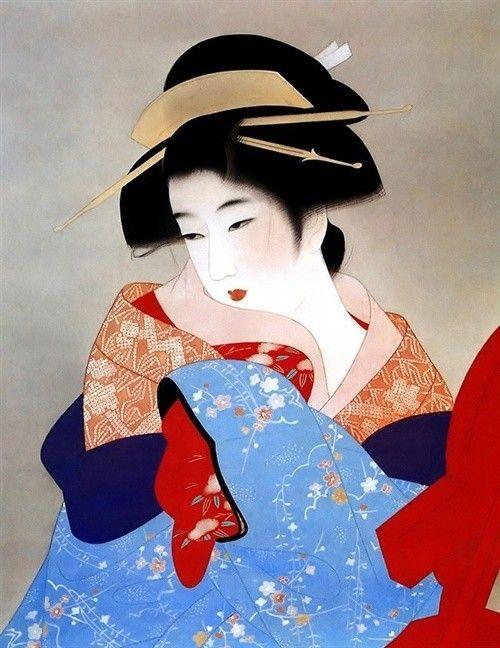 日本浮世绘《美人锦绘》 Japanese Painting, Art Google, Japanese Art
