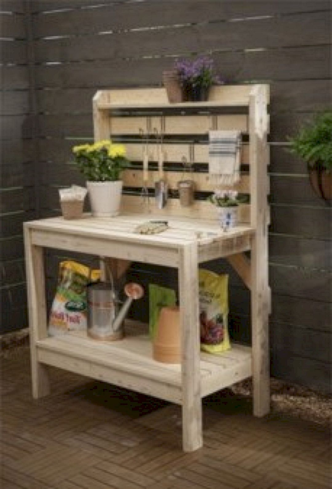 75+ Genius and Low-Budget DIY Pallet Garden Bench for Your Beautiful ...