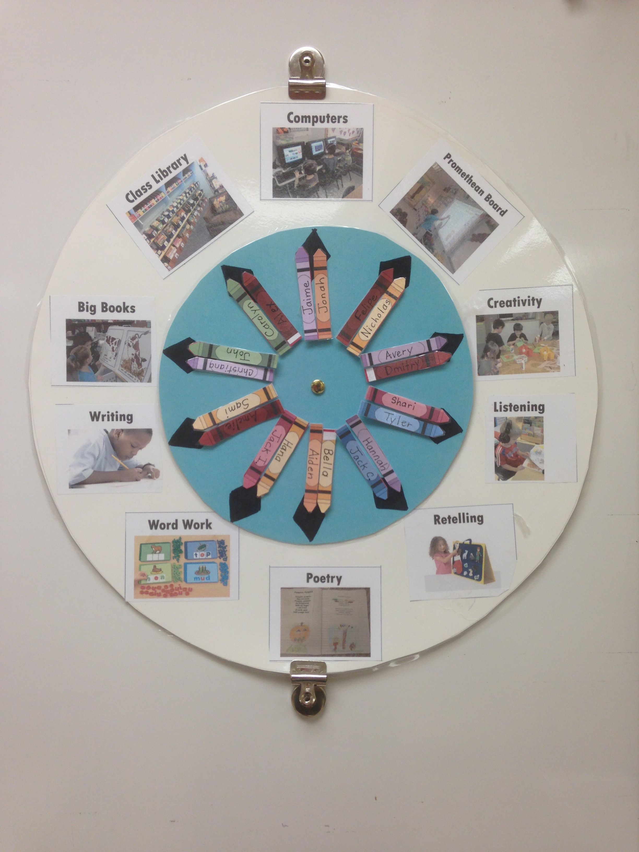 This Is My Literacy Center Wheel For Student Rotations