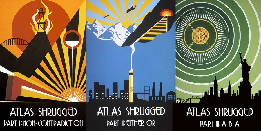 Atlas Shrugged Triptych By Decoechoes On Deviantart Atlas Shrugged Art Nouveau Poster Illustrations And Posters