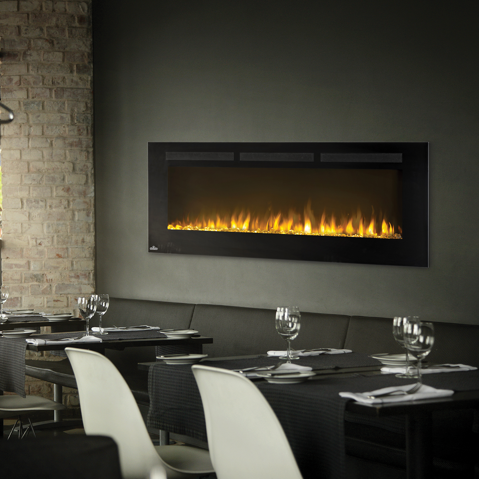 Napoleon Allure 50 Inch Wall Mounted Electric Fireplace Nefl50fh