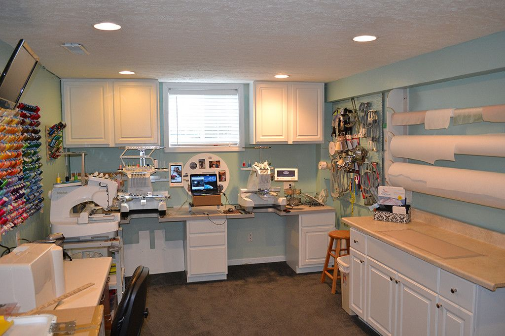Embroidery Studio Organization In Easy Steps Studio - Craft room home studio setup