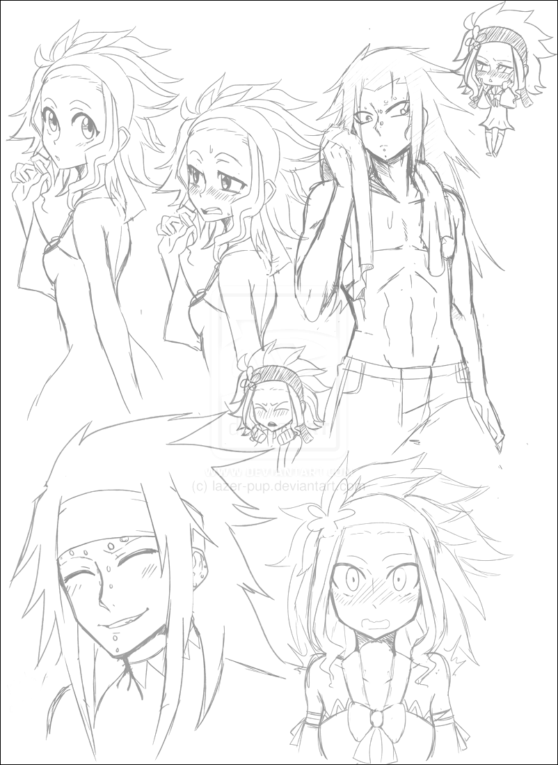 Fairy Tail - Gajeel and Levy - Sketch