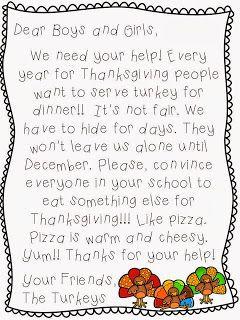 Turkey Writing Thanksgiving Persuasive Writing Craft