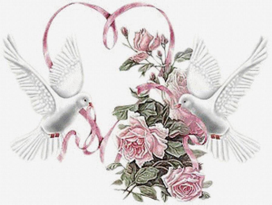 Открытки с голубями свадебные
