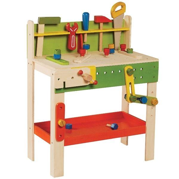 tabli en bois et ses outils de menuisier en bois jouets colo pinterest tabli en bois. Black Bedroom Furniture Sets. Home Design Ideas