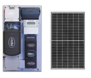 Off Grid Solar Power Kit With 975 Watts Of Panels And 3 500 Watt 24vdc 120vac Inverter Power Panel In 2020 Solar Power Kits Solar Kit Off Grid Solar Power