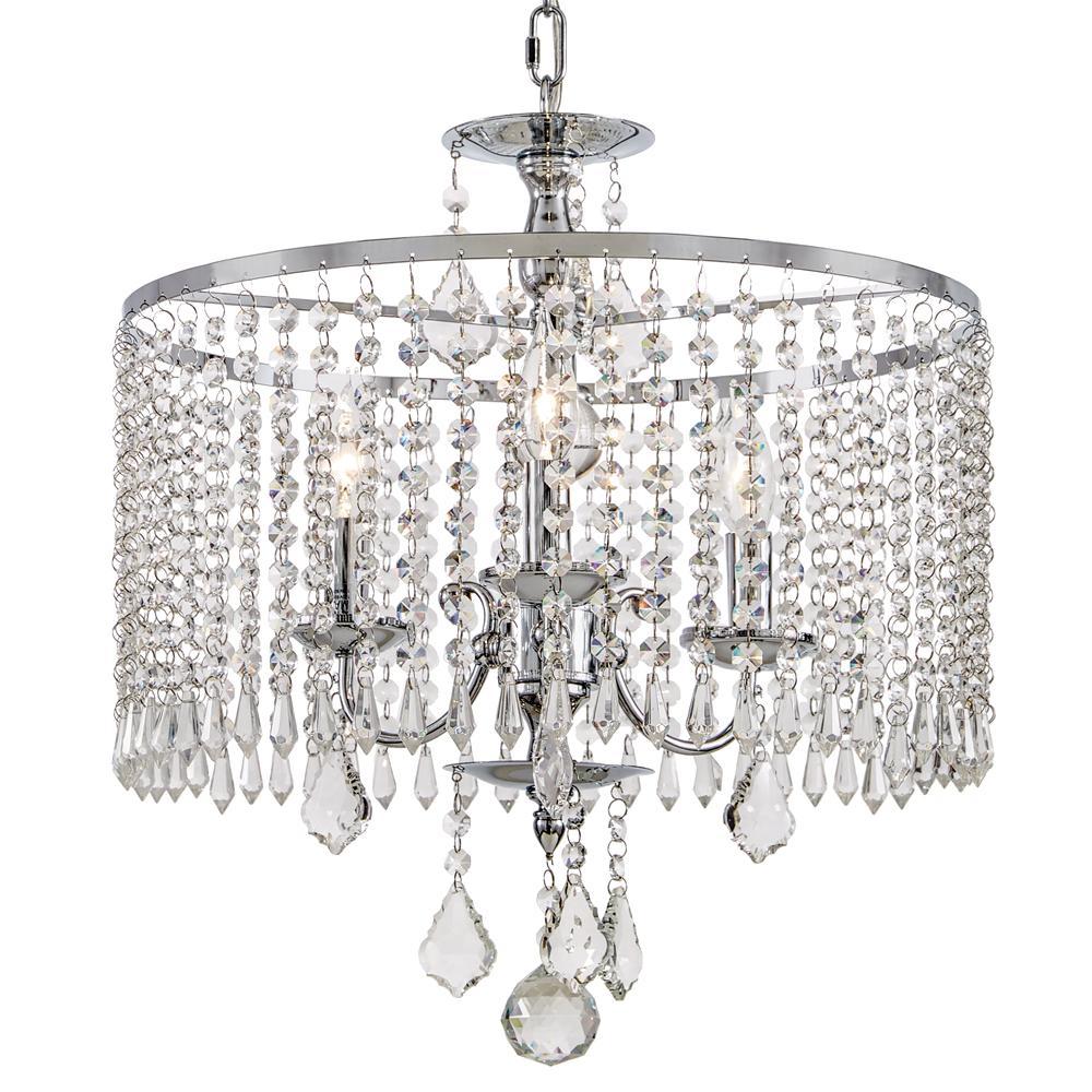 Home Decorators Collection Calisitti 3 Light Polished Chrome