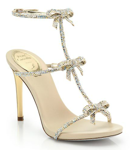these shoes are a piece of art! I love the bows! Rene Caovilla