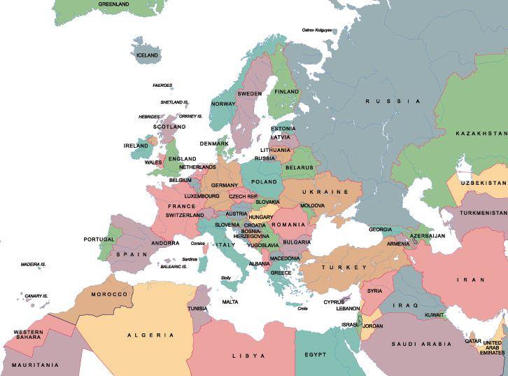 Kursevi Stranih Jezika Europa Kaarten