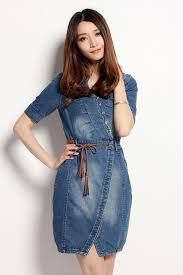 Resultado de imagem para vestidos de jean para mujer