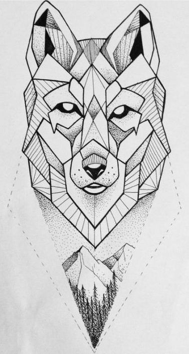 Geometric Wolf Sleeve: Tattoo Wolf Desing Ink 59 Ideas #tattoo
