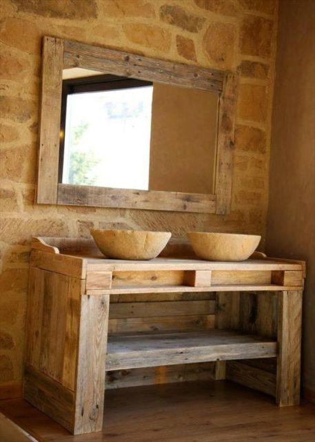 Móveis de banheiro feitos com palete - Fotos e dicas! | Móveis de ...