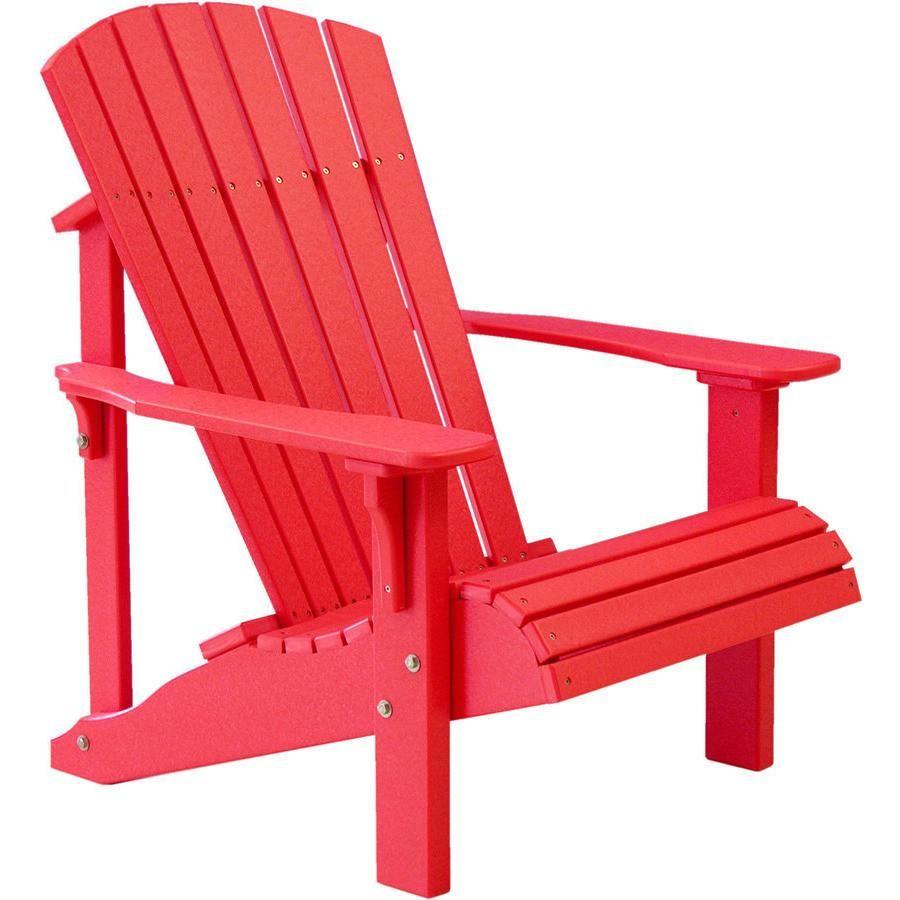 Luxcraft Recycled Plastic Deluxe Adirondack Chair Plastic Adirondack Chairs Chair Adirondack Furniture