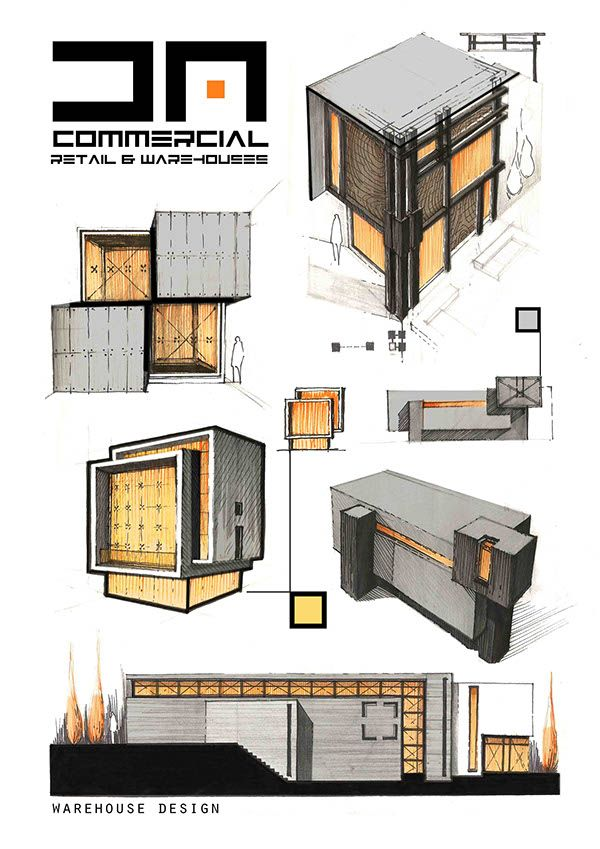 A compilation of different project types encompassing for Types of architectural design concepts