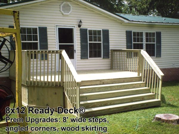 Nobody Builds More Decks Than Ready Decks Mobile Home Deck Deck Building A Deck