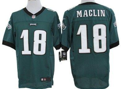 ... NFL Nike240027 Cheap Wholesale 2014 Regular Season Mens Philadelphia  Eagles 18 Jeremy Maclin Nike Green Elite Jersey ... 32c5ec088