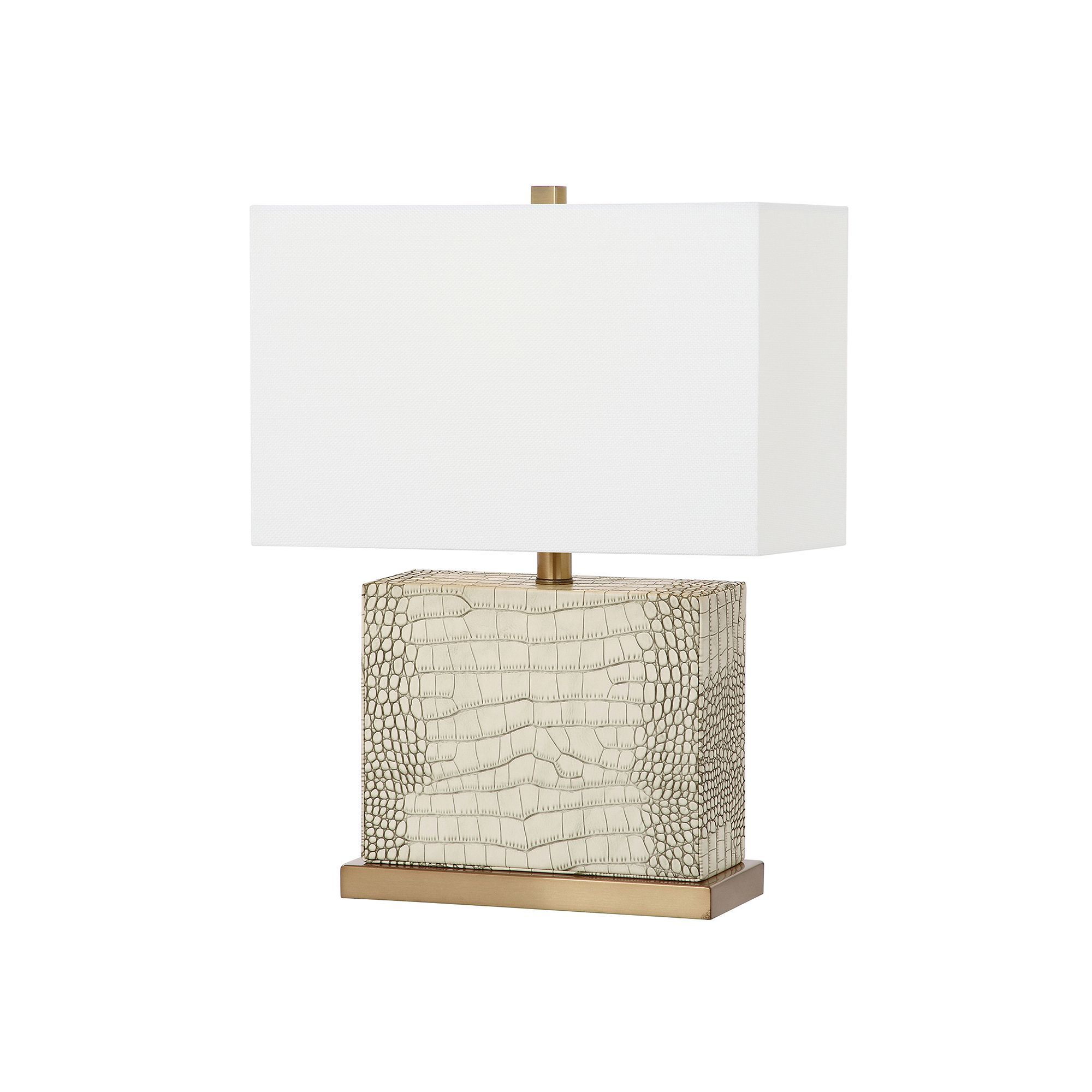 Safavieh Deliah Faux Alligator Table Lamp, White Oth