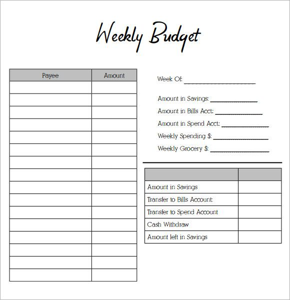 Image result for weekly budget worksheet | OTA Ready | Pinterest