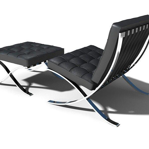 Barcelona Chair Footstool By Mies Van Der Rohe Barcelonachair Bauhaus Furniture Modern Classic Furniture Chair Design