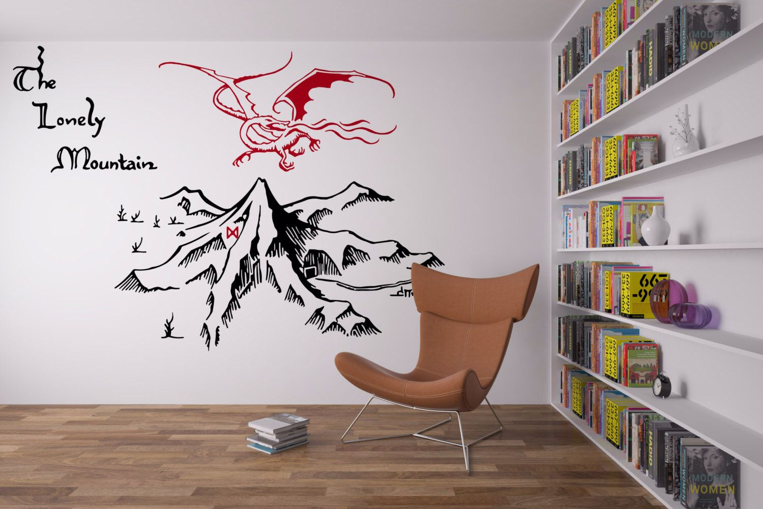 The Lonely Mountain Wall Decal by HoernerCornerCrafts on ...