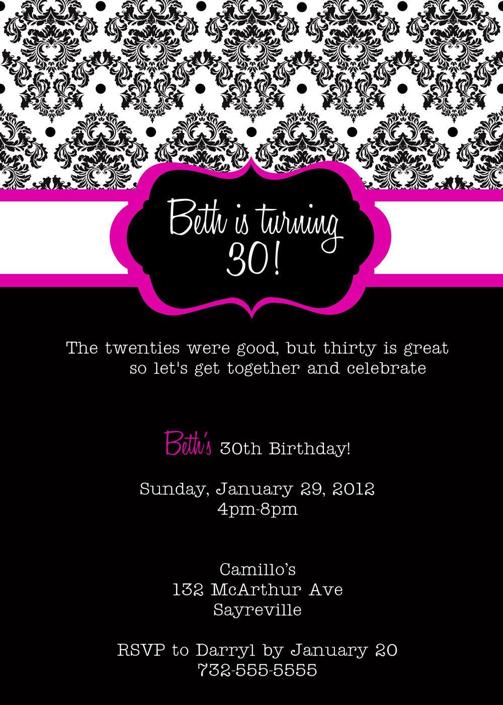 Awesome FREE Birthday Invite Wording