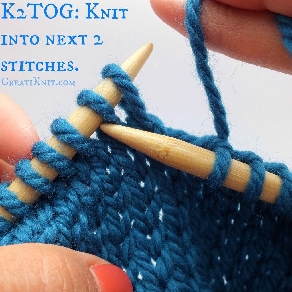 How to k2tog p2tog knit 2 together purl 2 together
