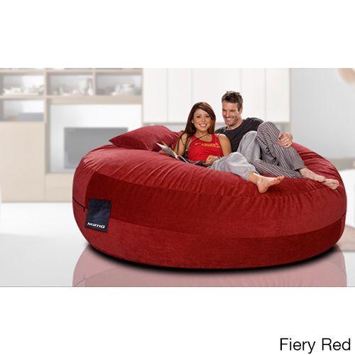 Pleasant Sumo Maximus Brown Microsuede Beanbag Seat Fiery Red Size Machost Co Dining Chair Design Ideas Machostcouk