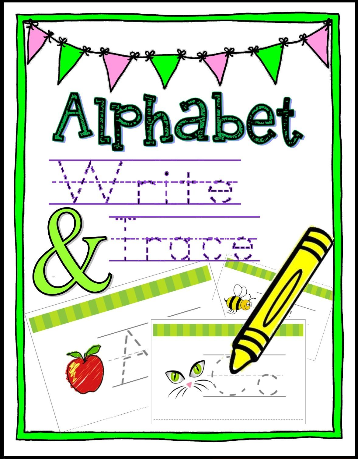 Learn The Alphabet Write Amp Wipe Tracing Cards Amp Worksheets Rf K 3a