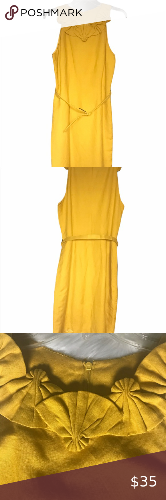 Jessica Howard Sunflower Yellow Dress With Belt Yellow Dress Mustard Yellow Dresses Dresses [ 1740 x 580 Pixel ]
